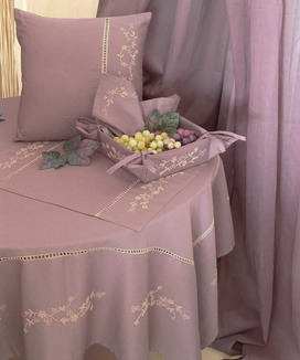 6 Sets de Table Coton Percale Ramatuelle Prune
