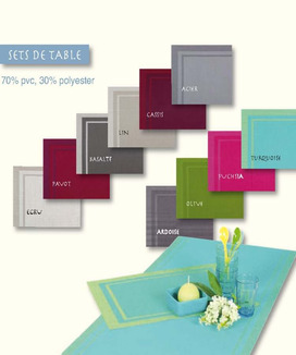 Set de table antitache encadré 33x46 cm PVC Yuco Ardoise