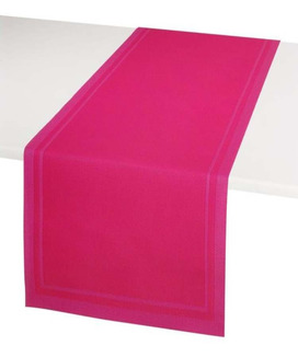 Chemin de table Plastifié antitache encadré 46x140 cm PVC Yuco Fuchsia