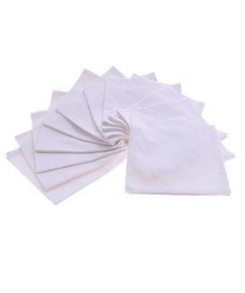 Lot de 6 Serviettes de table Coton 45x45 cm Yuco Blanc