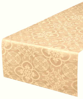 Chemin de Table Jacquard Faro Sepia