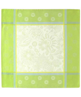 Serviette de table 48x48 cm jacquard Trinidad Anis