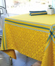 Nappe Jacquard Enduite Rectangulaire 150x300cm Bilbao Curry