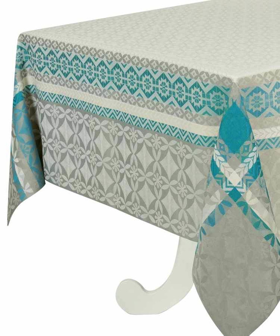 Nappe Rectangulaire Jacquard Enduite 300 cm Maréva Curry